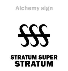 Alchemy stratum super stratum layer on layer vector