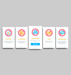 Allergen free products onboarding vector