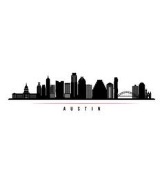 austin city skyline horizontal banner vector image