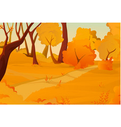 autumn landscape concept vector image