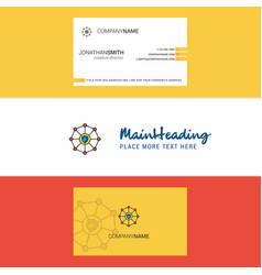 Beautiful sheild protected logo and business card vector
