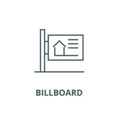 billboard line icon billboard outline vector image