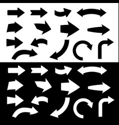 black and white arrow icon vector image