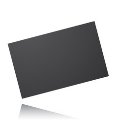 black card isolated on a white background vector image