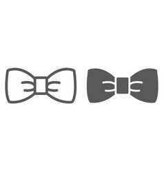bow tie line and glyph icon tuxedo and knot vector image