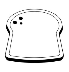 Bread slice icon image vector