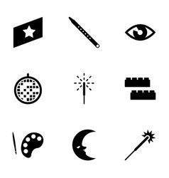 bright icons vector image