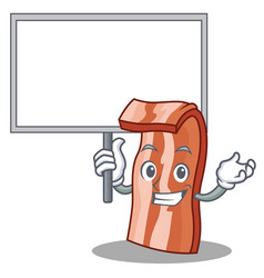 Bring board bacon character cartoon style vector