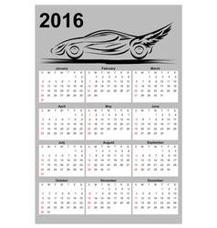 Calendar with car vector