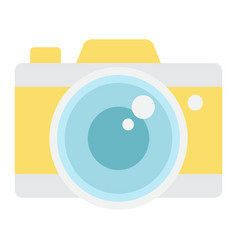 camera flat icon travel and tourism vector image
