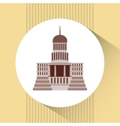 Capitol building design vector