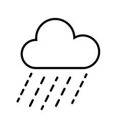 cloud and rain icon vector image
