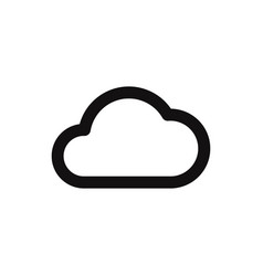 cloud icon in modern style for web site and vector image