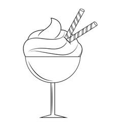 delicious outline icecream vector image
