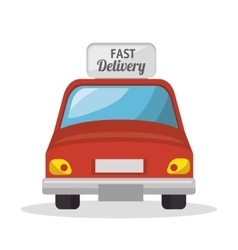 Delivery car service icon vector