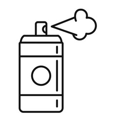 Deodorant spray bottle icon outline style vector