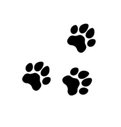 dog puppy cat paw silhouette icons set tags i vector image