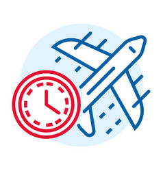 fast air delivery icon outline style vector image