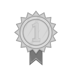 First place ribbon rosette icon vector