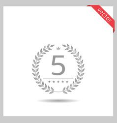 five stars icon vector image