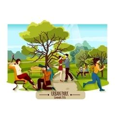 Garden Landscape Poster vector image
