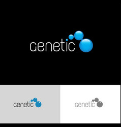 Genetic logo vector