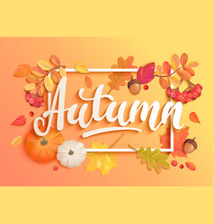 gold autumn banner vector image