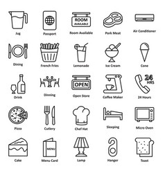 Guest house and lodge icons set that can b vector