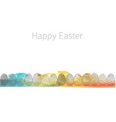 happy-easter vector image