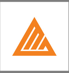 initials mg triangle logo template vector image
