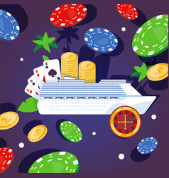 Large ship luxury passenger vessel casino vector