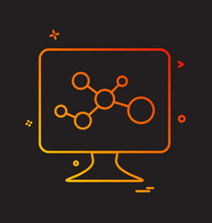 lcd screen molecules icon vector image
