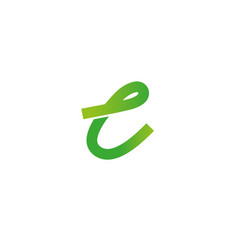 letter l logo design template elements curved vector image