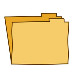 light colored hand drawn silhouette of folder vector image