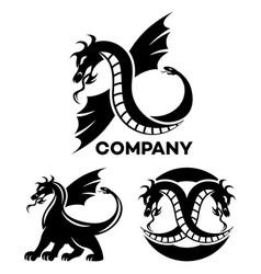 modern dragon logo vector image