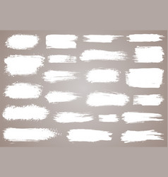 paint brush white ink grunge brush strokes vector image