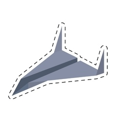 Paper plane idea innovation up cut line vector