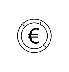 pie euro icon element of finance signs and vector image