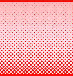 red abstract halftone dot pattern background vector image