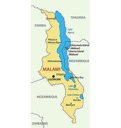 republic malawi - map vector image