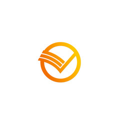 round letter v logo vector image
