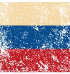 Russia retro flag vector