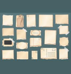 scrapbooking vintage paper scrapbook old stickers vector image