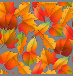 seamless autumn pattern orange yellow brown red vector image