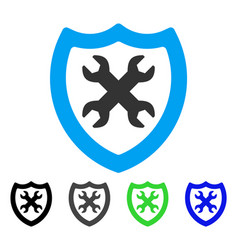 Security configuration flat icon vector