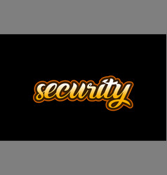 Security word text banner postcard logo icon vector