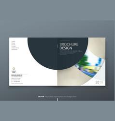 Square brochure design biege corporate business vector