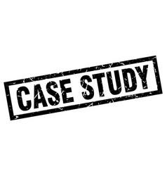 Square grunge black case study stamp vector