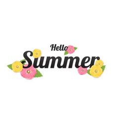 Summer flowers background or summer floral design vector
