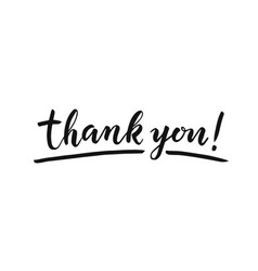 Thank you lettering on white background hand vector